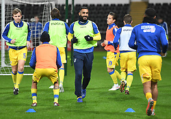 Stefan Payne of Bristol Rovers warms up.<br />  - Mandatory by-line: Alex James/JMP - 05/12/2018 - FOOTBALL - Liberty Stadium - Swansea, England - Swansea City U21 v Bristol Rovers - Checkatrade Trophy
