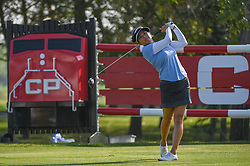 August 23, 2018 - Regina, SK, U.S. - REGINA, SK - AUGUST 23: Brianna Do (USA) watches her tee shot on 18 during the CP Women's Open Round 1 at Wascana Country Club on August 23, 2018 in Regina, SK, Canada. (Photo by Ken Murray/Icon Sportswire) (Credit Image: © Ken Murray/Icon SMI via ZUMA Press)