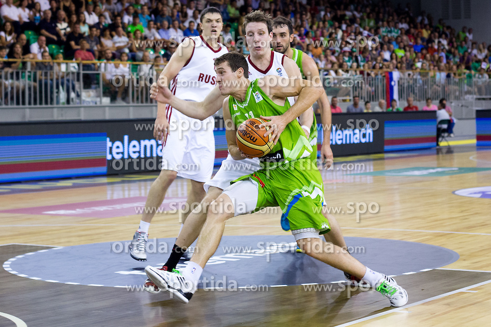 Goran Dragic of Slovenia during friendly match between National teams of Slovenia and Russia for Eurobasket 2013 on August 18, 2013 in Hala Tivoli, Ljubljana, Slovenia. (Photo by Matic Klansek Velej / Sportida.com)