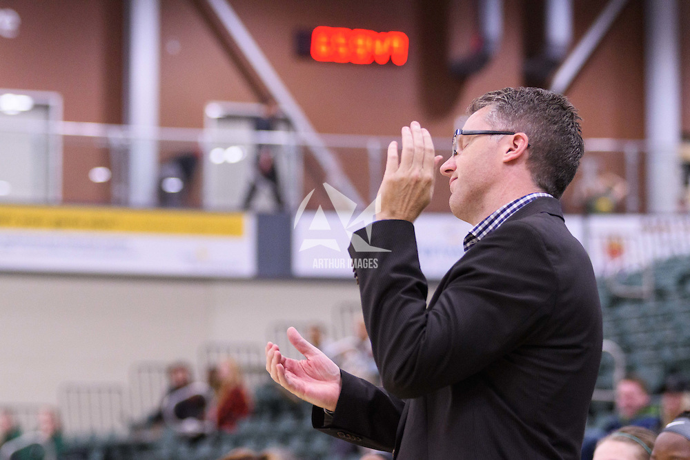Head Coach Dave Taylor in action during the Women's Basketball Preseason game on October 6 at Centre for Kinesiology, Health and Sport. Credit: Arthur Ward/Arthur Images