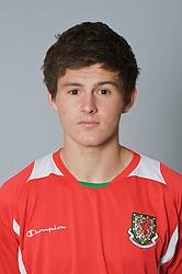 SWANSEA, WALES - Monday, March 30, 2009: Wales' Under-21 Aaron Morris. (Photo by David Rawcliffe/Propaganda)