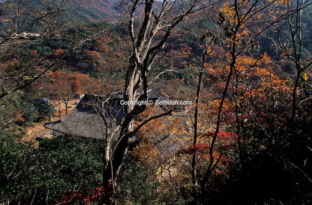 Buddhist temple and Ssanggyesa pagoda  Seoul  Korea   temple bouddhiste et pagode de Ssanggyesa  Ssanggyesadhi  coree  ///R20134/    L0006892  /  R20134  /  P105121