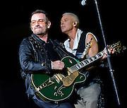 © Filippo Alfero<br /> Milano, 07/07/2009<br /> spettacolo<br /> U2 in concerto - 360° Tour<br /> Nella foto: Bono e Adam Clayton<br /> <br /> © Filippo Alfero<br /> Milan, Italy, 07/07/2009<br /> entertainment<br /> U2 in concert - 360° Tour<br /> In the photo: Bono and Adam Clayton