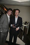 Jack Davenport and Teddy st. Aubyn, The South Bank Show Awards, Savoy Hotel. London. 23 January 2007.  -DO NOT ARCHIVE-© Copyright Photograph by Dafydd Jones. 248 Clapham Rd. London SW9 0PZ. Tel 0207 820 0771. www.dafjones.com.