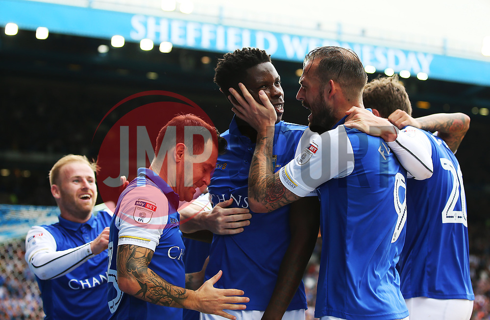 Lucas Joao of Sheffield Wednesday celebrates after scoring the equalising goal to make it 2-2 - Mandatory by-line:  Matt McNulty/JMP - 24/09/2017 - FOOTBALL - Hillsborough - Sheffield, England - Sheffield Wednesday v Sheffield United - Sky Bet Championship