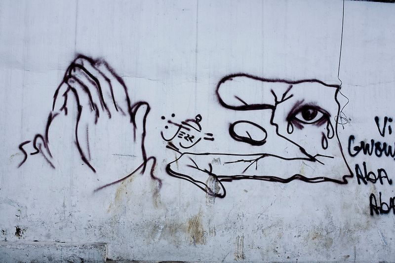 Post earthquake grafiti. Port Au Prince, Haiti. Ben Depp. 2/25/2010