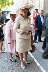 © Licensed to London News Pictures. 22/06/2018. London, UK. BARONESS SCOTLAND attends a service of Thanksgiving at Westminster Abbey to mark the 70th Anniversary of the Landing of the Windrush. The MV Windrush ship docked at Tilbury in the Port of London on 22nd June 1948 and  was carrying 492 passengers from the port of Kingston in Jamaica. Photo credit: Ray Tang/LNP