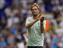 LONDON, ENGLAND - Saturday, August 27, 2016: Liverpool's manager Jürgen Klopp after the 1-1 draw with Tottenham Hotspur during the FA Premier League match at White Hart Lane. (Pic by David Rawcliffe/Propaganda)
