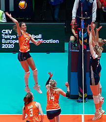 10–01-2020 NED: Olympic qualification tournament women Netherlands - Poland, Apeldoorn<br /> The Dutch volleyball players lost the third group match of the OKT in Apeldoorn 3-1 against Poland / Anne Buijs #11 of Netherlands