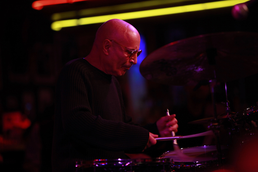 Drummer Paul Motian  performs at the Birdland Jazz Club on December 8, 2009 in New York City. photo by Joe Kohen for The New York Times