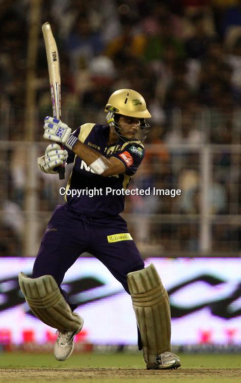 Kolkata Knight Riders Sourav Ganguly Hit The Shot Against Mumbai Indians During The  Indian Premier League - 56th match Twenty20 match | 2009/10 season Played at Eden Gardens, Kolkata 19 April 2010 - day/night (20-over match)