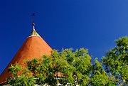 Red tiled roof of tower, Zagreb, Croatia