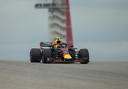 October 20, 2018 - Austin, USA - Aston Martin Red Bull Racing driver Max Verstappen (33) of Netherlands comes over the hill at Turn 10 during qualifying at the Formula 1 U.S. Grand Prix at the Circuit of the Americas in Austin, Texas on Saturday, Oct. 20, 2018. (Credit Image: © Scott Coleman/ZUMA Wire)