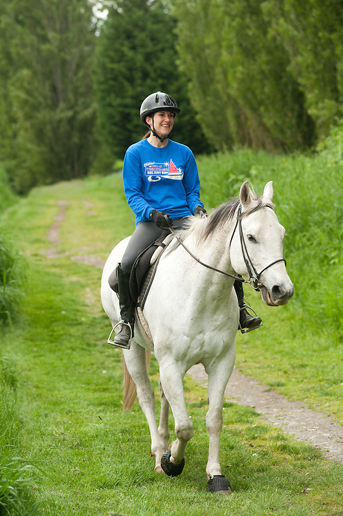 Horseback riding in western Washington.