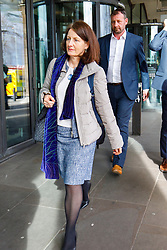 © Licensed to London News Pictures. 22/02/2017. London, UK. LESLEY SMITH, Amazon's Director of Public Policy UK and Ireland leaves after a select committee hearing on self-employment and the gig economy at Portcullis House as representatives from Uber, Amazon, Deliveroo and Hermes were asked to inform the Work and Pensions Committee in London on 22 February 2017. Photo credit: Tolga Akmen/LNP
