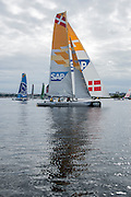 SAP, day three of the Cardiff Extreme Sailing Series Regatta. 24/8/2014