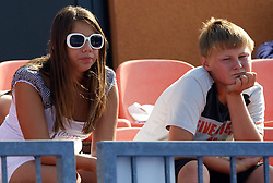 Young fans at 1st Round of Singles at Banka Koper Slovenia Open WTA Tour tennis tournament, on July 20, 2010 in Portoroz / Portorose, Slovenia. (Photo by Vid Ponikvar / Sportida)