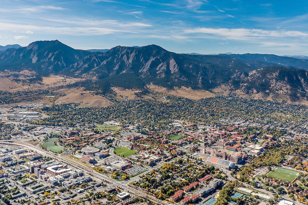 Boulder Colorado Aerial Photography, Stock Aerial Photography of Boulder, CO