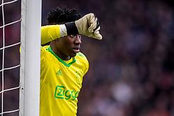21-01-2018 NED: AFC Ajax - Feyenoord, Amsterdam<br /> Ajax was met 2-0 te sterk voor Feyenoord / Andre Onana #1 of AFC Ajax