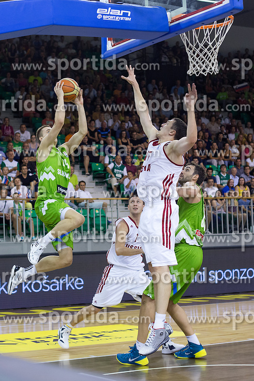 Klemen Prepelic of Slovenia during friendly match between National teams of Slovenia and Russia for Eurobasket 2013 on August 18, 2013 in Hala Tivoli, Ljubljana, Slovenia. (Photo by Matic Klansek Velej / Sportida.com)
