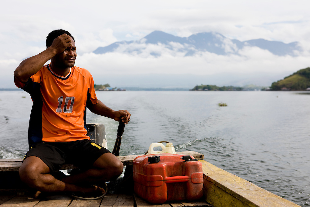 View of Sentani Lake, Papua, Indonesia, Sept. 7, 2008..Daniel Beltra/Greenpeace