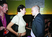 Ghislaine Maxwell and Toby Young. Plum & Lucy Sykes 30th birthday. Lot 61,  550 West 21 St. NY.   4/12/99<br />© Copyright Photograph by Dafydd Jones 66 Stockwell Park Rd. London SW9 0DA Tel 020 7733 0108 www.dafjones.com