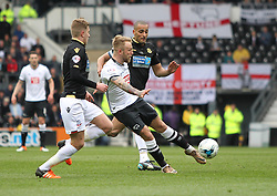 Johnny Russell of Derby County scores his sides first goal - Mandatory by-line: Jack Phillips/JMP - 09/04/2016 - FOOTBALL - iPro Stadium - Derby, England - Derby County v Bolton Wanderers - Sky Bet Championship