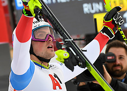 26.01.2020, Streif, Kitzbühel, AUT, FIS Weltcup Ski Alpin, Slalom, Herren, 2. Lauf, im Bild Daniel Yule (SUI) Sieger // Daniel Yule of Switzerland first Place reacts after his 2nd run in the men's Slalom of FIS Ski Alpine World Cup at the Streif in Kitzbühel, Austria on 2020/01/26. EXPA Pictures © 2020, PhotoCredit: EXPA/ Erich Spiess