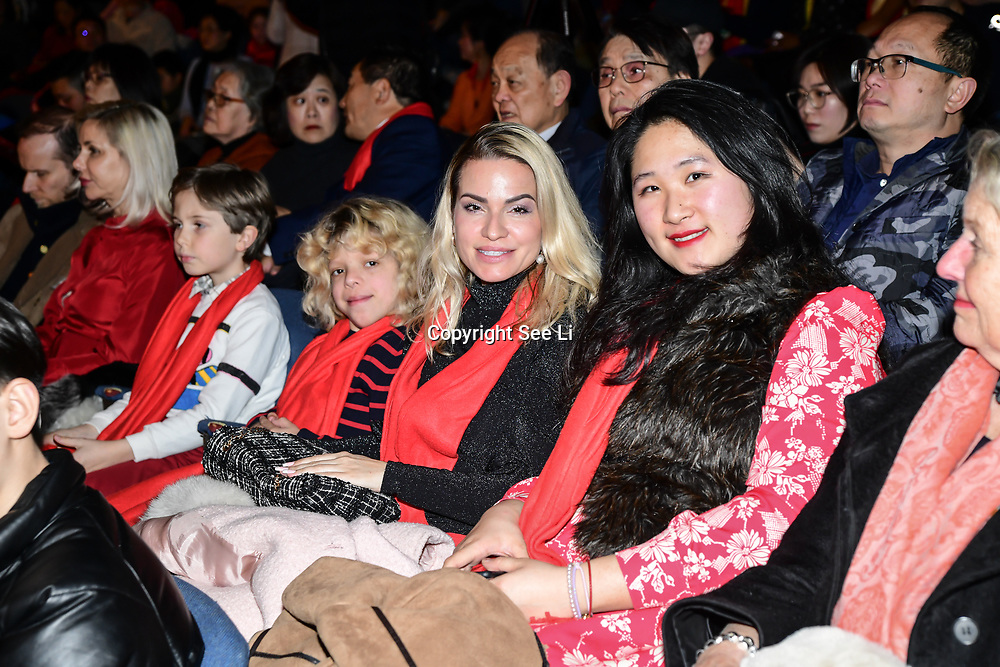 Diana Arama, Sunny Ye attend the 2020 China-Britain Chinese New Year Extravaganza with 200 performers from over 20 art groups from both China and the UK showcase at Logan Hall on 18th January 2020, London, UK.