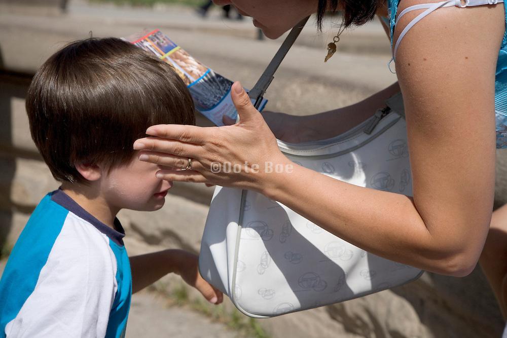 mother punishing child