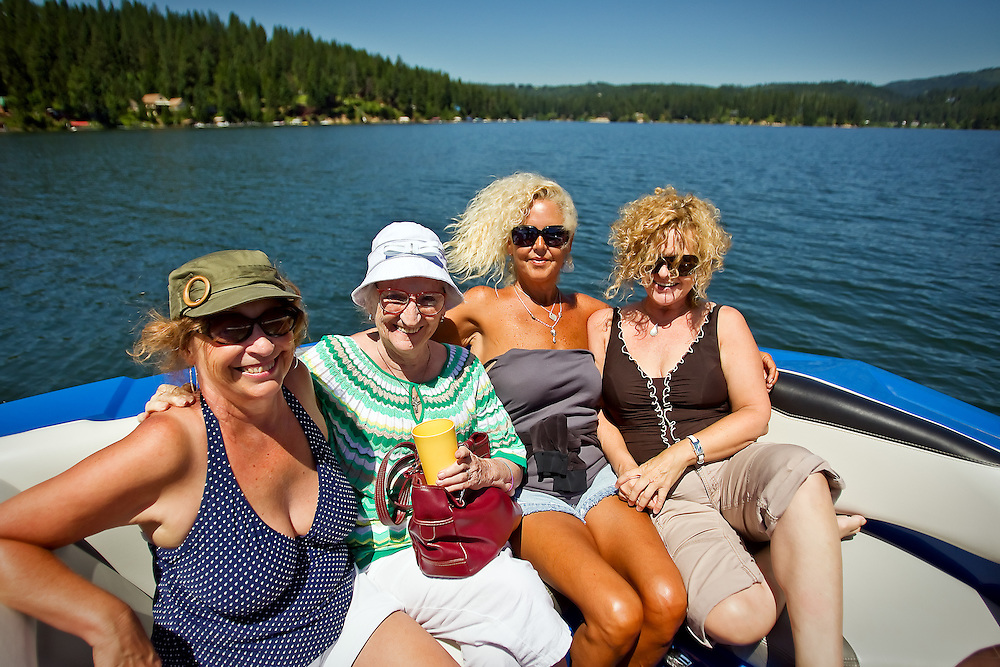 The family enjoys a nice day out on the water of Hayden Lake on Essex Prescott's boat Friday, July 9, 2010 during an outing with Grandma Nancy.