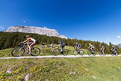 11.06.2017, Lienz, AUT, Dolomitenradrundfahrt, SuperGiroDolomiti 2017, im Bild übersicht auf die Verfolger am Lanzenpass. EXPA Pictures © 2017, PhotoCredit: EXPA/ Johann Groder