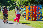 Rasheed Araeen, Summertime - The Regents Park (2017) - The Frieze Sculpture Park 2017 comprises large-scale works, set in the English Gardens . The installations will remain on view until 8 Oct 2017.