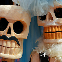.Day of the Dead Bride and Groom in Playa del Carmen, Mexico <br />