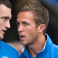 St Johnstone v Rosenborg....25.07.13  Europa League Qualifier<br /> Injured duo Chris Millar and David Robertson<br /> Picture by Graeme Hart.<br /> Copyright Perthshire Picture Agency<br /> Tel: 01738 623350  Mobile: 07990 594431