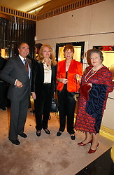 Left to right, RANDOLPH KENT, LAURA SANDYS, CELIA SANDYS and LADY DUNCAN SANDYS at a party to ceebrate the bublication of 'The Ravenscar Dynasty' by Barbara Taylor Bradford hld at the newly opened Mousaieff Store, 172 New Bond Street, London on 28th September 2006.<br /><br />NON EXCLUSIVE - WORLD RIGHTS