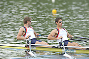 Caversham, Great Britain.  GBR M2X, bow. Bill LUCAS and Sam TOWNSEND. GB Rowing media day, GB Rowing Training Centre, Caversham. Tuesday,  18/05/2010 [Mandatory Credit. Peter Spurrier/Intersport Images]