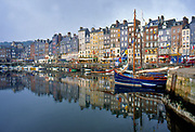 France, Normandy.  Honfleur, The Old Harbour.