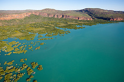 Vast mangrove systems line the mouth of the Hunter River on the Kimberley coast.