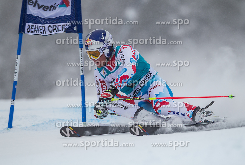 08.12.2013, Birds of Prey, Beaver Creek, USA, FIS Ski Weltcup, Beaver Creek, Riesentorlauf, Herren, 1. Durchgang, im Bild Alexis Pinturault (FRA) // Alexis Pinturault of France in action during the the 1st run of mens Giant Slalom of the Beaver Creek FIS Ski Alpine World Cup at the Birds of Prey Raptor in Beaver Creek, United States on 2012/12/08. EXPA Pictures © 2013, PhotoCredit: EXPA/ Johann Groder
