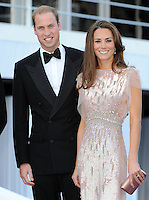 LONDON, UK: The Duke and Duchess of Cambridge attend the Ark Gala at Kensington Palace, London, on the 9th June 2011.<br /> PHOTOGRAPH BY JAMES WHATLING