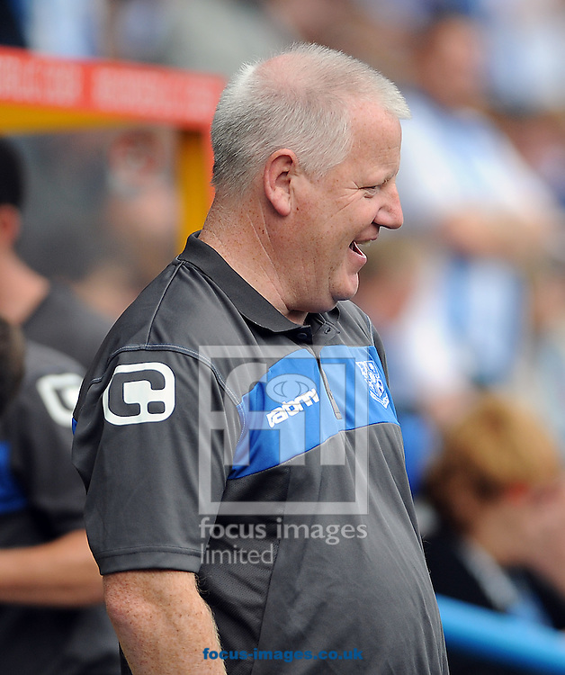 Picture by Graham Crowther/Focus Images Ltd. 07763140036.10/9/11 .Lee Parry manager of Tranmere during the Npower League 1 game at the Galpharm Stadium against Huddersfield.