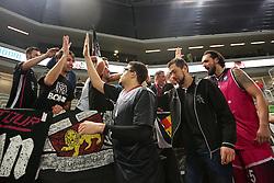 Players of Telekom Baskets Bonn celebrate during basketball match between KK Union Olimpija Ljubljana and Telekom Baskets Bonn (GER) in Round 3 of EuroCup 2015/16, on October 28, 2015 in Arena Stozice, Ljubljana, Slovenia. Photo by Matic Klansek Velej / Sportida.com