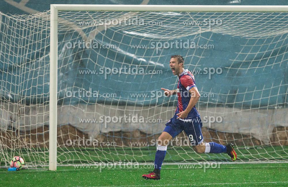 Marko Futacs of HNK Hajduk celebrates after scoring first goal for Hajduk during football match between HNK Rijeka and HNK Hajduk Split in Round #15 of 1st HNL League 2016/17, on November 5, 2016 in Rujevica stadium, Rijeka, Croatia. Photo by Vid Ponikvar / Sportida
