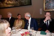 DOREEN LAWRENCE; JON SNOW, ,  Chris Ofili dinner to celebrate the opening of his exhibition. Tate. London. 25 January 2010