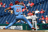 June 14, 2018 - Philadelphia, PA, U.S. - PHILADELPHIA, PA - JUNE 14: Philadelphia Phillies Pitcher Adam Morgan (46) throws a pitch during the MLB baseball game between the Philadelphia Phillies and the Colorado Rockies on June 14, 2018 at Citizens Bank Park in Philadelphia, PA. The Phillies won 9-3. (Photo by Andy Lewis/Icon Sportswire) (Credit Image: © Andy Lewis/Icon SMI via ZUMA Press)
