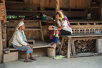 The Kayan, sometimes referred to as the Padaung, are a tribal people who are currently refugees in Thailand in the province of Mae Hong Son. They wear distinctive brass rings on their necks, which give the appearance of elongation, which is considered a mark of beauty. They are refugees due to the Burmese Army fighting the minority people in Northern Burma.