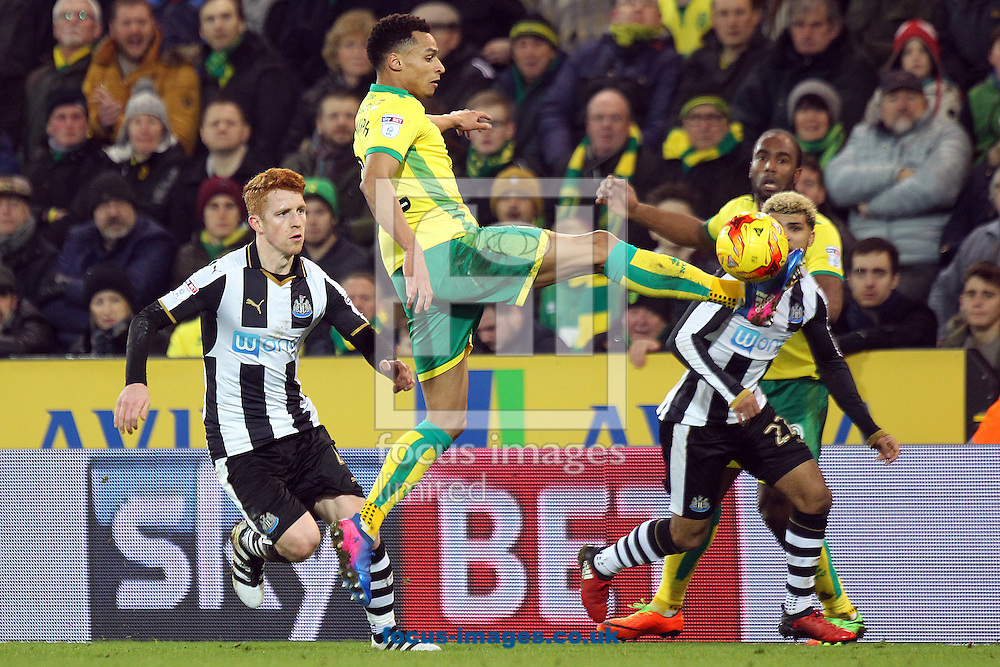 Jacob Murphy of Norwich in action during the Sky Bet Championship match at Carrow Road, Norwich<br /> Picture by Paul Chesterton/Focus Images Ltd +44 7904 640267<br /> 14/02/2017