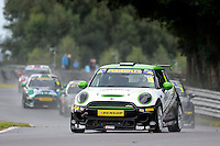 #19 Lawrence Davey Mini F56 JCW during the MINI Challenge - JCW at Oulton Park, Little Budworth, Cheshire, United Kingdom. August 20 2016. World Copyright Peter Taylor/PSP.