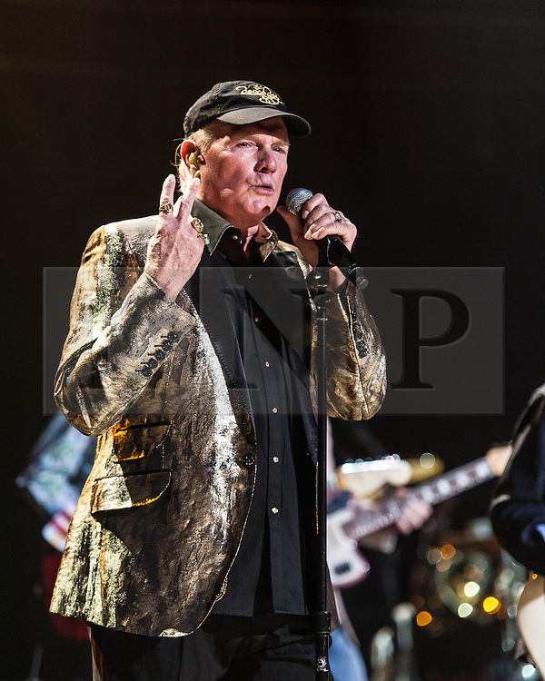 © Licensed to London News Pictures. 27/09/2012. London, UK. Mike Love of The Beach Boys performing live at The Royal Albert Hall, London, as part of their 50th Anniversary Tour.  It is reported that this is the final tour that Love, Wilson and Jardine will play together as The Beach Boys - with Love planning on continuing the band with different band members. Photo credit : Richard Isaac/LNP